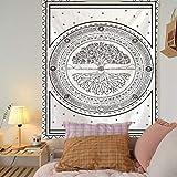 KHKJ Tapiz de árbol psicodélico Mandala para Colgar en la Pared tapices de macramé Hippie para la decoración del hogar de la Sala de Estar A1 200x180cm