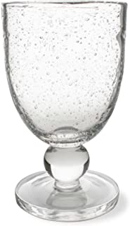 Tag Bubble Glass Goblet, Clear, 6 Count