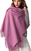Pashmina Cashmere Feel Scarf Wrap Oversized Blanket Scarf Ultra Soft Solid Color Shawls for Women