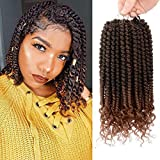 6 Pack Spring Senegalese Twist Crochet Hair 12 Inch Crochet Twist Hair with Curly Ends Spring Twist Crochet Braids T30