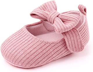 Infant Baby Shoes Soft Sole Mary Jane Flats Bowknot Ballerina Princess Wedding Dress Prewalker Crib Shoes Baby Sneaker Shoes