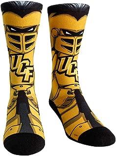 NCAA Super Premium College Fan Socks (L/XL, UCF Knights - Mascot Knightro)