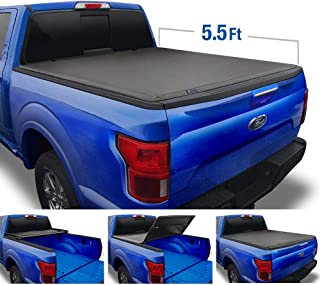 Tyger Auto (Soft Top T3 Tri-Fold Truck Tonneau Cover TG-BC3F1019 Works with 2009-2014 Ford F-150 (Excl. Raptor Series) | Styleside 5.5' Bed | for Models Without Utility Track System