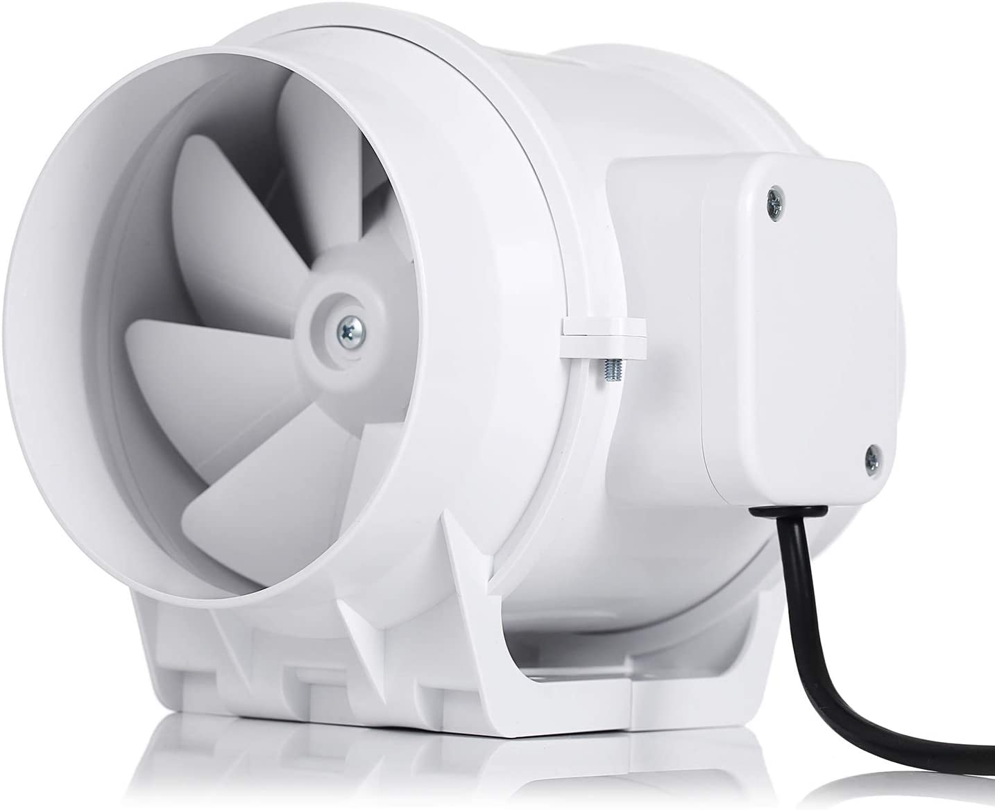 Hon&Guan 20 Inch Extractor Fan High Efficiency Mixed Flow Ventilation System  Exhaust Air for Bathroom Kitchen Inline Duct Fan S Series