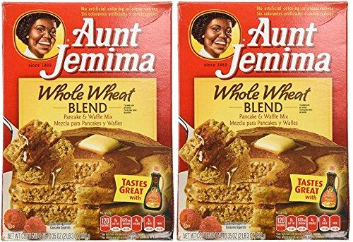 Aunt Jemima Whole Wheat Pancake Mix  35 oz  2 pk