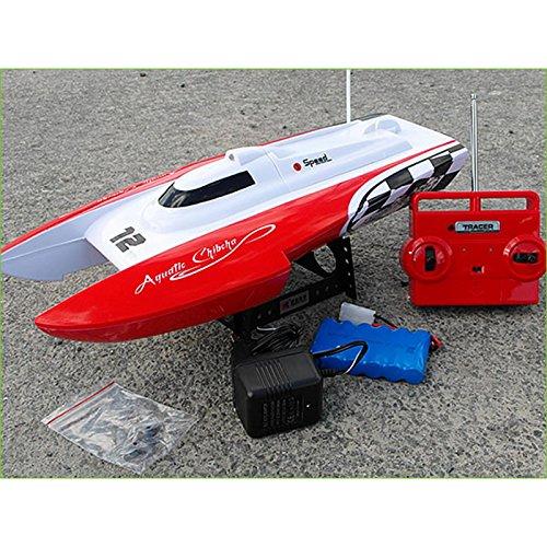 Melko Speedboot RC 40CM Katamaran Rennboot Rot Schiff Boat SCHNELLBOOT ferngesteuert