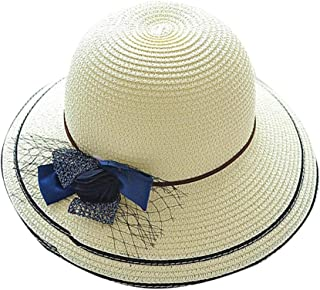 JOYS CLOTHING 網の折り畳み式の漁師の帽子、屋外の古典的な浜の帽子の陰の麦わら帽子