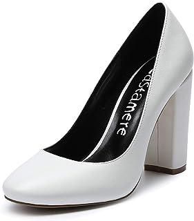 CASTAMERE Chaussures Femme Haut Talon 10CM Escarpins Femme Bout Rond Confort Classique Mode Sexy Fête Mariage Bureau High ...