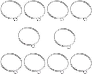 SUPVOX 10Pcs Frame Pendants Open Back Bezel Pendant Alloy Blank Frame Hollow Pendants for UV Resin Crafts DIY Jewelry Making (Silver)