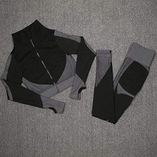 Pantalon Yoga Sin Costuras 2Pcs / 3Pcs Conjuntos Deportivos Sin Costuras Mujeres Trajes De Gimnasia Para Correr Al Aire Libre Altamente Elásticos Para Mujeres Sujetador Leggings Y Conjunto Superi
