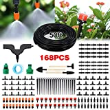 PATHONOR Garden Irrigation System, 50ft/15m Drip Irrigation Kit with...