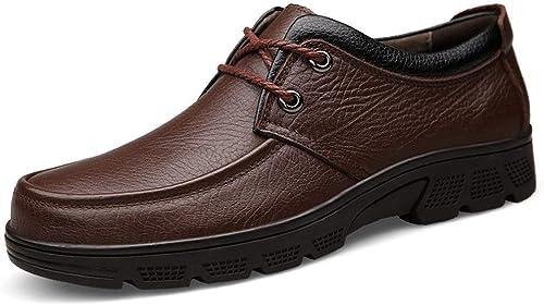 Qiusa Chaussures de Marche Rue rétro décontractées pour Hommes (Couleuré   Marron, Taille   10 UK)
