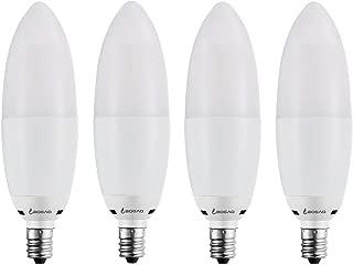 Bogao (4 Pack) LED Candelabra Bulb, 12W Warm White 3000K LED Candle Bulbs, 85-100 Watt Light Bulbs Equivalent, E12 Candelabra Base,1200Lumens LED Lights,Torpedo Shape (Warm White 3000K)