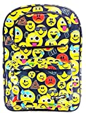 Emojination Boys & Girls 16' Canvas Yellow School Backpack All Over Print