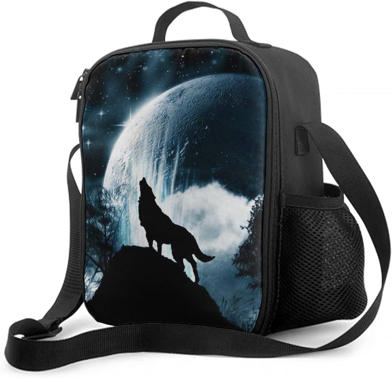 NiYoung Premium Polyester Full Moon Popular brand Women Box Lunch Wolf Handbag 1 year warranty