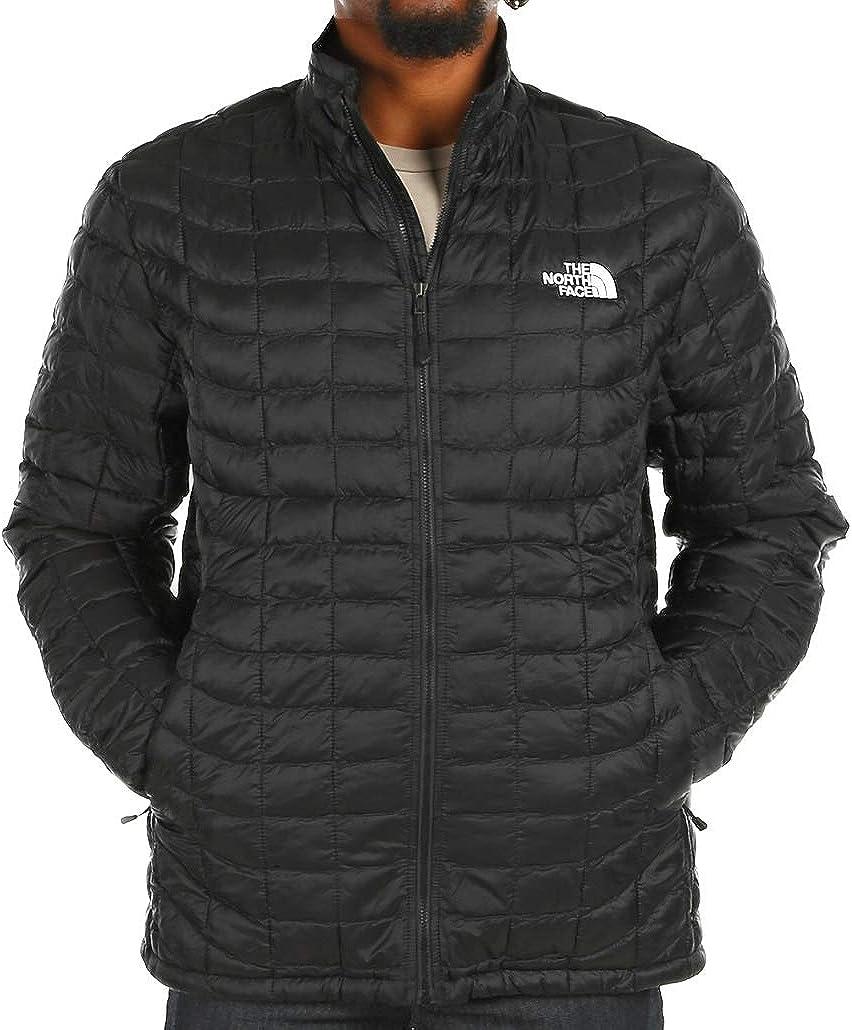 The North Face Men Thermoball Jacket Matte Black/White Logo Medium