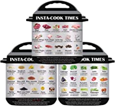 3 in 1 Electric Pressure Cooker Cook Times Quick Reference Guide Compatible with Instant..