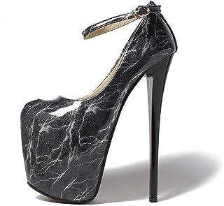 073a64ce712d82 Sandales pour Dames, Chaussures de boîte de Nuit en Cuir Verni Verni à Talons  Hauts