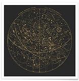 JUNIQE® Astronomie & Weltraum Poster 20x20cm - Design