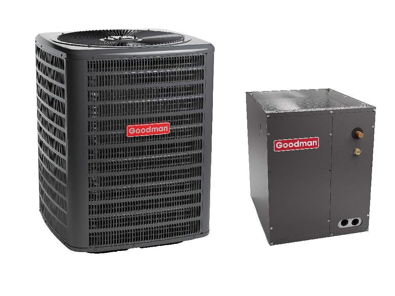 Goodman 4 Ton 14 SEER Air Conditioner GSX140481, Coil CAPF4860C6, Upflow, Downflow Coil CAPF4860C6