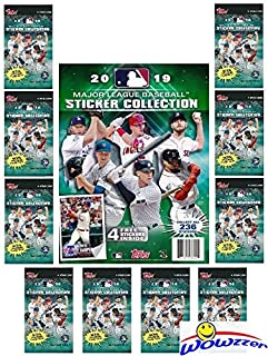 2019 Topps MLB Baseball Stickers Special Collectors Package with 10 Factory Sealed Packs & 44 Page Album! Total of 44 Brand New Stickers! Look for Mike Trout, Babe Ruth, Aaron Judge & More! WOWZZER!
