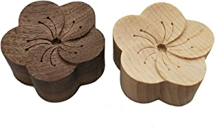 2 Pack Wood Essential Oil Diffuser Zen Decor Car Air Freshener, Minimalistic Aromatherapy Essential Oil Diffusers from The Nature (flower (with clip))