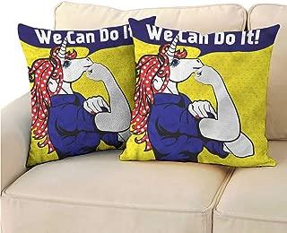 RuppertTextile Unicorn Customized Pillowcase Unicorn with Polka Dot Mildew Proof W23 x L23