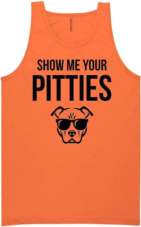 Show Me Your Pitties Neon Orange Tank Top - XX-Large