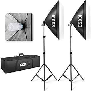 ESDDI Softbox Photography Lighting Kit 800W Continuous Lighting System Photo Studio..