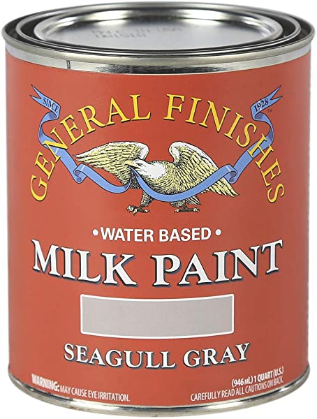 General Finishes QSGG Milk Paint 1 Quart Seagull Gray