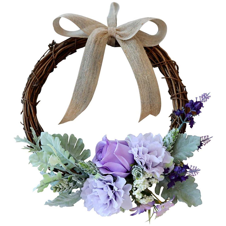 NQXXN Wreath, Simulation Rose Wreath Summer Front Door Wreath, Creative Door Ornament, Wedding Wall Family Porch Family Party Decor