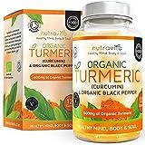 Curcuma Turmeric BIO 600 mg avec Curcumine & Poivre Noir   120 Capsules Avec...