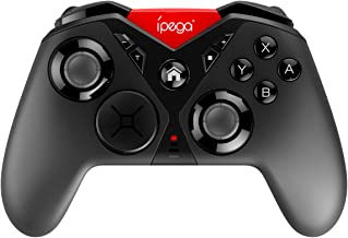 ipega PG-SW001 Game Controller Wireless Pro Controller for Nintendo Switch Android System Device PC Device, Built-in Dual Motor Vibration, six-axis Body Function, 3D Interchangeable Function,Black