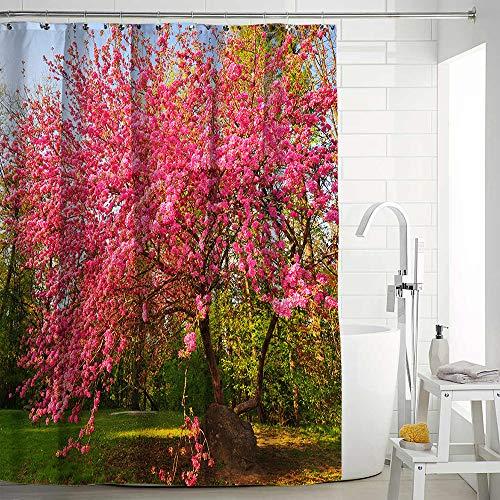empty Waterproof Anti-Mildew Shower Curtain Hd Outdoor Flowers Landscape Polyester Printing Bath Tent,Yl1036-3,150X180Cm