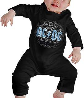 Pimkly ACDC Unisex Baby Crawler Babys Bodysuit Langarm Strampler Jumpsuit Kleidung Baumwolle 0-24 Monate