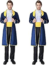 Peachi Beauty & the Beast Inspired Prince Adam Halloween Adult Boy Custome Cosplay Party S-XL