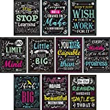 Blulu 10 Pezzi Motivational Classroom Wall Poster Inspirational Quotes Positive Poster for...