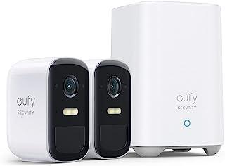 eufy Security eufyCam 2C Pro, Draadloze Beveiligingscamera, 2K-resolutie, Beveiligingssysteem 180 dagen batterijprestatie...