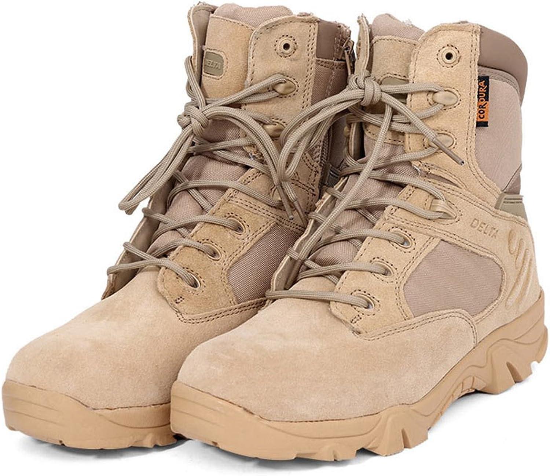 Elegantstunning Leder Ankle-High Military Tactical Stiefel, Wasserdicht, Wandern Stiefel Army Army Army Combat Comp Fuß Seite Zip Arbeit Stiefel für Herren b1b24c