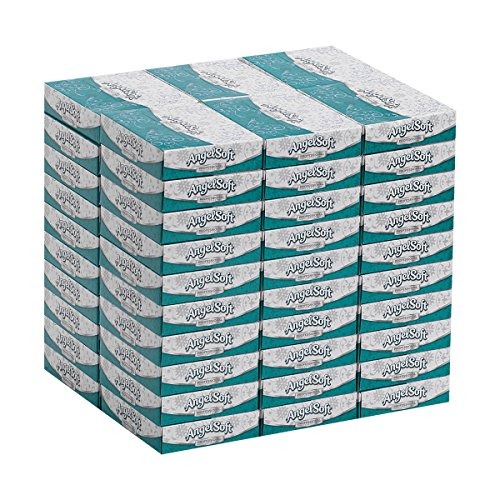 Angel Soft Professional Series 2Ply Facial Tissue by GP PRO GeorgiaPacific Personal Size Flat Box 48550 50 Sheets Per Box 60 Boxes Per Case