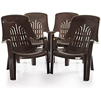 Bharat Sales Premium Chair Set of 4 (Verti Leisure - Brown)