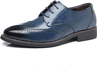 [ロムリゲン] ビジネスシューズ 紳士靴 革靴 メンズ 外羽根 防水 ブローグ 衝撃吸収 消臭 軽量 通気性抜群