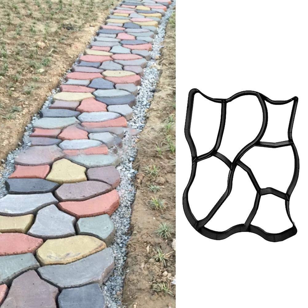 Molde de pavimento de jardín irregular, molde de plástico reutilizable para hormigón, molde para hacer caminos, molde decorativo de piedra, bricolaje, para caminar en el patio: Amazon.es: Bricolaje y herramientas