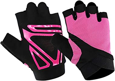 Feccile Outdoor Breathable and Anti-Slip Half Finger Fitness Sports Gloves Workout Gloves for Women and Men, Training Gloves