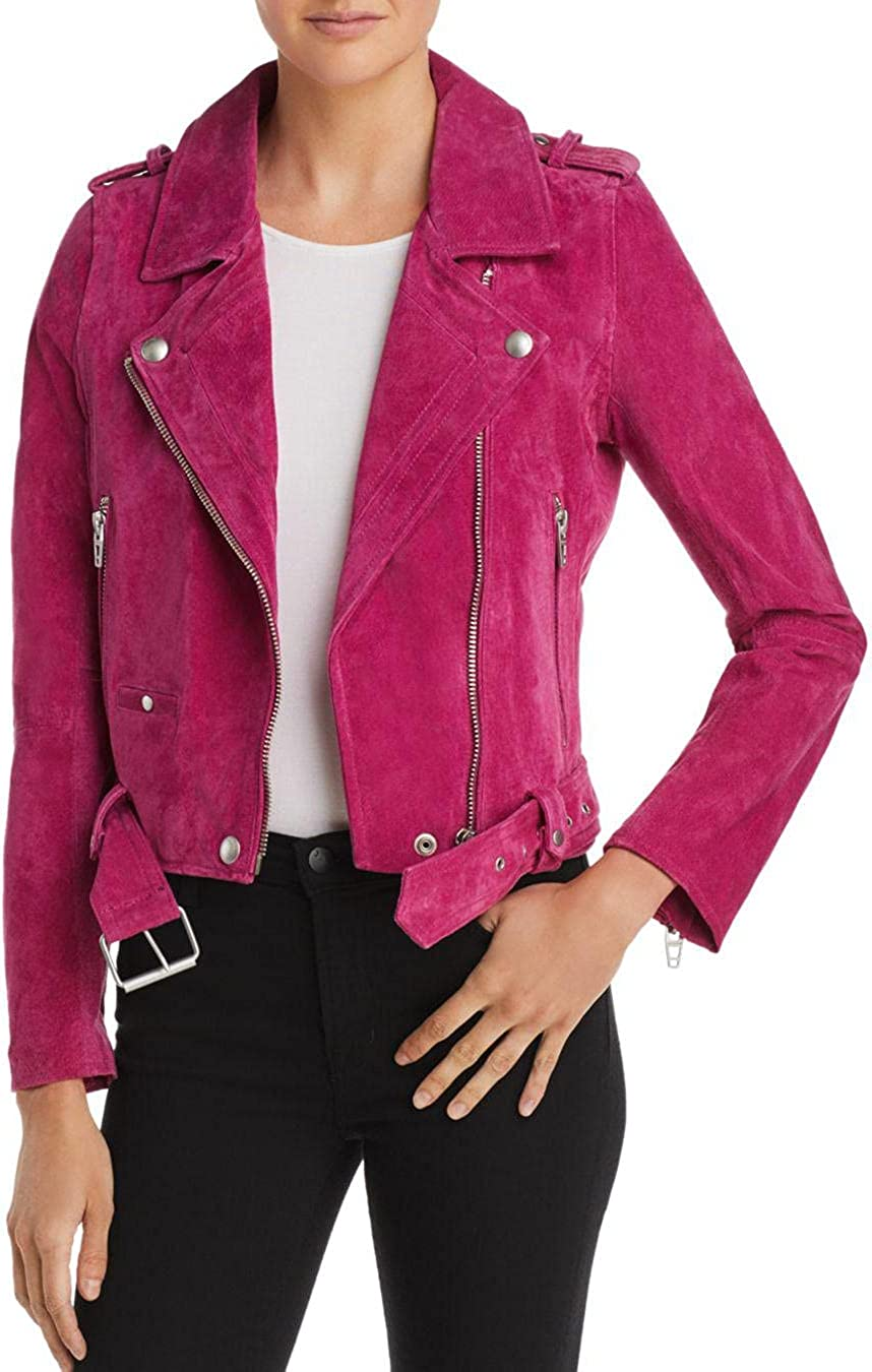 Cheap mail order Portland Mall sales BLANKNYC womens Real Moto Jacket Suede