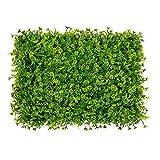 UOEIDOSB Planta Verde Artificial Céspedes Falsos de plástico Alfombra de césped Paisajismo de la Pared Hierba de simulación para la Boda Decoración del jardín del hogar 40 * 60cm (Size : E-40 * 60cm)
