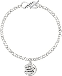 Be Strong and Courageous Bar Always My Sister Forever My Friend Affirmation Link Bracelet
