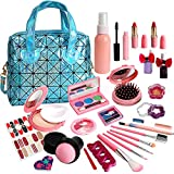 Kids Makeup Kit for Girls - Real Makeup Set for Little Girls, Non Toxic, Washable Makeup Kits Toys, Play Girls Makeup Kit for Kids With Blue Bag - Birthday for Ages 5, 6, 7, 8, 9, 10 Year Old Children