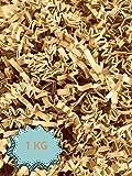 Wiits Natura | Papel Triturado Arrugado para Relleno y Decoración de Cajas | Paja Decorativa Virutas | Cajas regalo | Color Kraft | 1 Kilogramo | Biodegradable y Compostable | Libre de Plástico