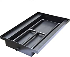 Stanbroil Powder Coated Steel Fireplace Box Pan with Dual Flame H Burner